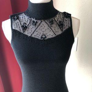 Beautiful mock turtle neck sleeveless sweater
